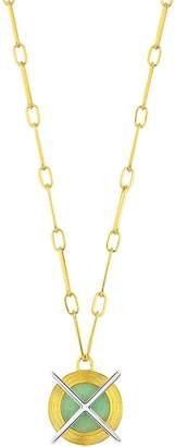 Kloto Ion.622 Green Aventurine & Gold Pendant Necklace