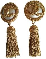 Chanel Baroque Gold Gold plated Earrings