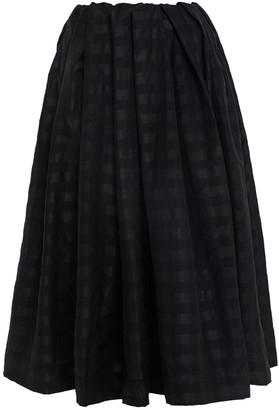 Marques Almeida Pleated Checked Taffeta Midi Skirt