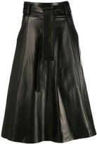 Drome tie waist flared skirt