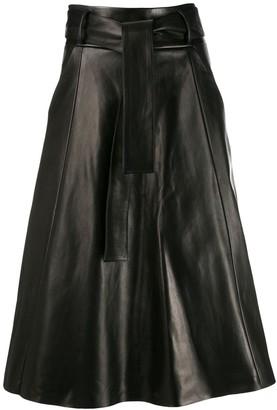 Drome tie waist flared skirt