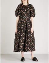 Simone Rocha Floral-print chiffon midi dress
