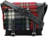 Loewe Milit tartan messenger bag