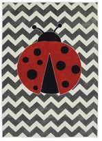 Mohawk Home Aurora Little Lady Bug 5-Foot x 8-Foot Multicolor Area Rug