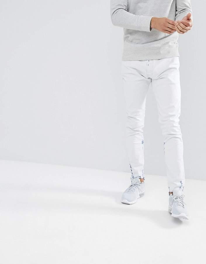 Diesel Tepphar Skinny Jeans in Off White