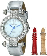 Peugeot Women's 3140S Crystal Pave Dial Interchangeable Strap Gift Set