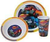 Blaze Racing Tumbler, Bowl and Plate Set, Blue, Set of 3