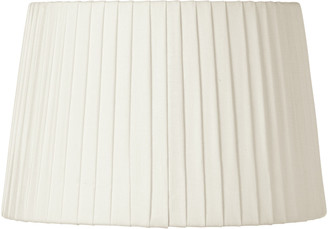 OKA 30cm Pleated Linen Lampshade - Off White