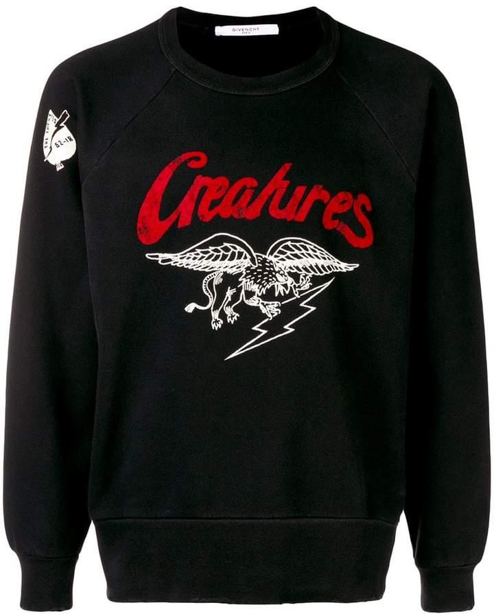 Givenchy Creatures sweatshirt