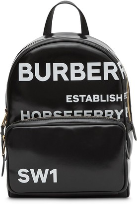 Burberry Horseferry print coated-canvas backpack