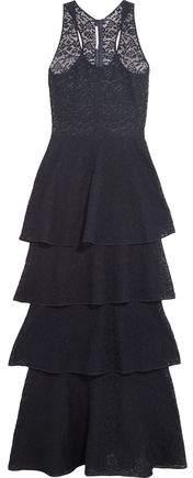 Stella McCartney Tiered Lace Maxi Dress