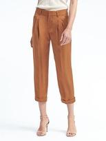 Banana Republic Barrel-Leg Pleated Crop Pant