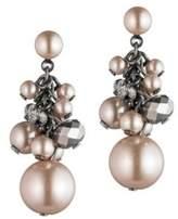 Carolee Queen of Gems Cluster Beaded Pierced Earrings