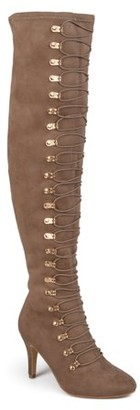 Brinley Co. Women's Vintage Almond Toe Over-the-knee Boots