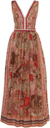 Le Sirenuse Positano Sophia Long Ranthambore Tiger Dress