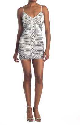 Jump Geo Sequin Beaded Mini Dress