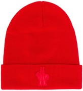 Moncler logo embroidery beanie