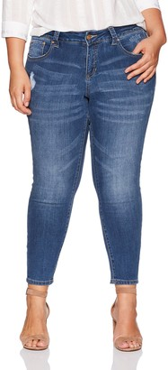 Jag Jeans Women's Plus Size Mera Skinny Ankle Jean in Platinum Denim