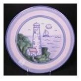 Hadley Pottery Coaster, Lighthouse Pattern