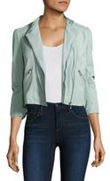 Rebecca Taylor Washed Leather Crop Jacket