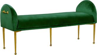 Verlaine Owen Green Velvet Bench