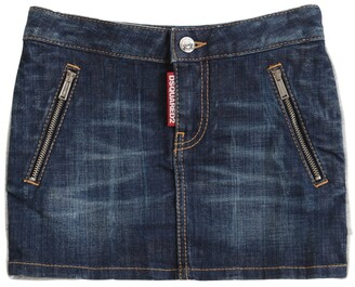 DSQUARED2 Stretch Cotton Denim Skirt