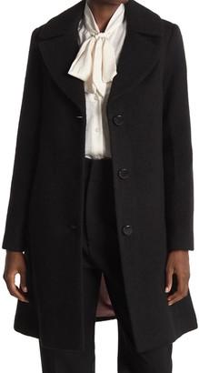 Kate Spade Notch Collar Wool Blend Coat