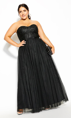 City Chic Antonia Maxi Dress - black