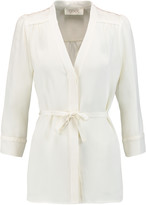 Goat Brittany belted silk crepe de chine blouse