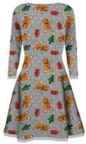 My Mix Trendz Womens Christmas Dresses Ladies Long Sleeve Olaf Santa Novelty Xmas Swing Plus