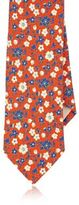 Barneys New York MEN'S FLORAL-PRINT NECKTIE-RED