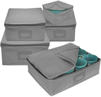 Rebrilliant Dish Storage 5 Piece Dining Plate Set Finish: Gray