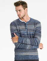 Lucky Brand Marled Stripe Henley Sweater