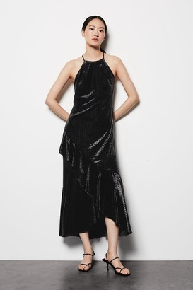 Karen Millen Halter Neck Velvet Dress