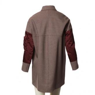Balenciaga Burgundy Polyester Coats