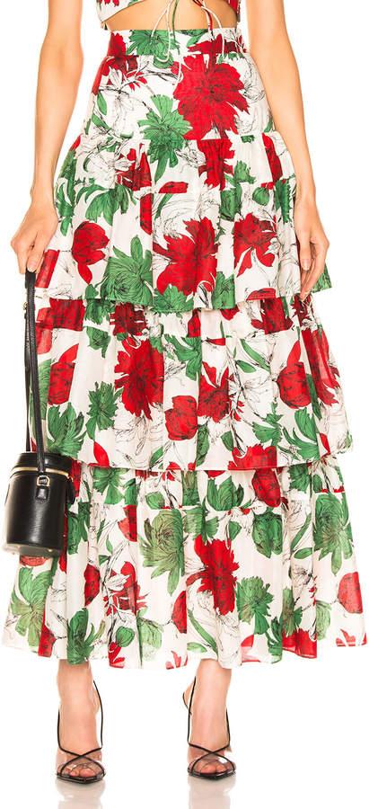 Alexis Delora Skirt in Garden Ivory | FWRD