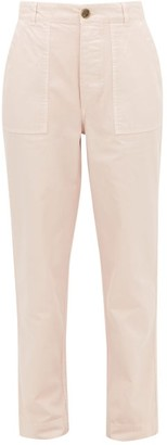 Officine Generale Saskia Garment-dyed Cotton-twill Trousers - Light Pink