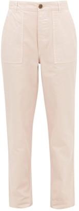 Officine Generale Saskia Garment-dyed Cotton-twill Trousers - Womens - Light Pink