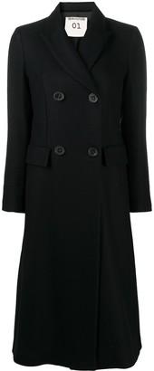 Semi-Couture Peak Lapel Double-Breasted Coat