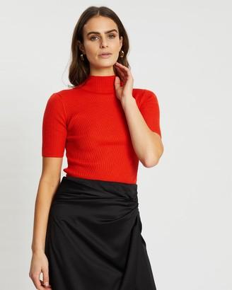 SABA Jac Short Sleeve Asymmetrical Rib Knit