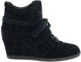 Ash Bowie Black Wedge Heeled Sneakers