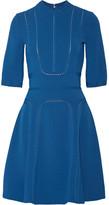 Elie Saab Pointelle-trimmed Stretch-ponte Dress - Cobalt blue