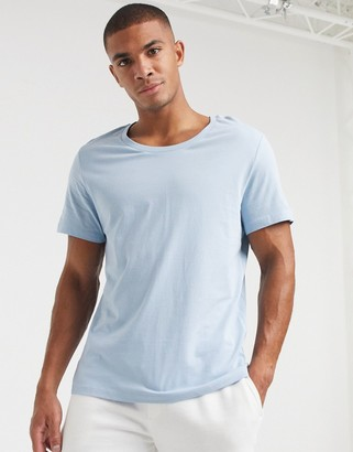 ASOS DESIGN t-shirt with scoop neck in blue