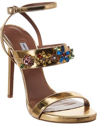 Tabitha Simmons Scarlett Metallic Leather Sandal