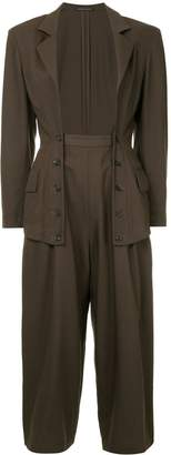 Yohji Yamamoto Pre-Owned open buttoned suit
