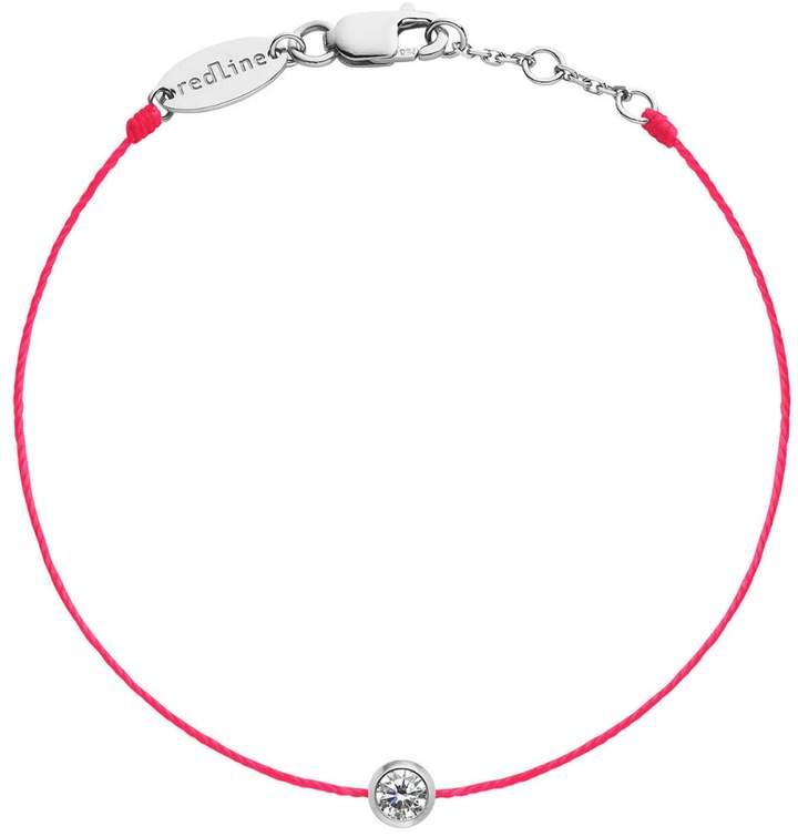 Redline Pure String Diamond Hot Red Bracelet - White Gold