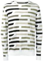 Ermanno Scervino striped sweatshirt - men - Cotton - 50