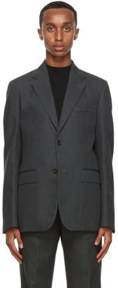 Marni Grey Wool Pinstripe Blazer