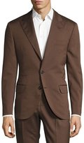 Brunello Cucinelli Herringbone Deconstructed Jacket, Brown