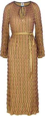 M Missoni Gold embroidered metallic-weave maxi dress